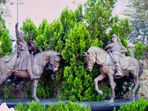 Saladin & King Richard (sculpture, Jerusalem)