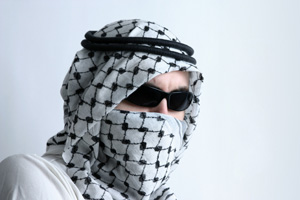 Arab in kaffiyeh
